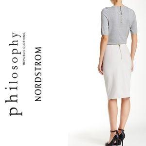 Philosophy Pencil Skirt, Beige Size 6